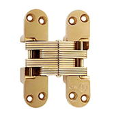 ® Invisible Hinge, UL Fire Rated Hinge for Wood or Metal, Alloy Steel Material, Satin Brass Finish