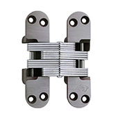 ® Invisible Hinge, UL Fire Rated Hinge for Wood or Metal, Alloy Steel Material, Clear Coat Unplated Finish