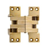 ® Invisible Hinge, 180 minute UL Fire Rated Hinge for Metal Doors, Alloy Steel Material, Satin Brass Finish