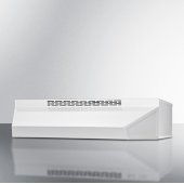 24'' Wide ADA Compliant Ductless Range Hood in White Finish with Remote Wall Switch, 24'' W x 18'' D x 5'' H