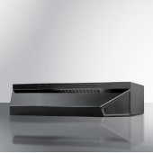 18'' Wide ADA Compliant Convertible Range Hood for Ducted or Ductless Use in Black with Remote Wall Switch, 18'' W x 18'' D x 5'' H