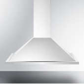 30'' ADA Compliant European Wall-Mounted Range Hood in Stainless Steel with Remote Wall Switch, 29-3/4'' W x 19-5/8'' D x 32'' H