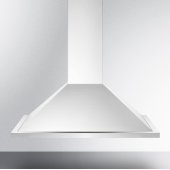 36'' ADA Compliant European Wall-Mounted Range Hood in Stainless Steel with Remote Wall Switch, 35-3/8'' W x 19-5/8'' D x 36'' H