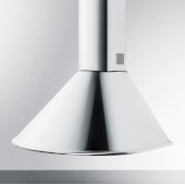 24'' ADA Compliant European Wall-Mounted Range Hood in Stainless Steel with Remote Wall Switch, 23-1/2'' W x 21-5/8'' D x 30'' H