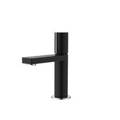 STYLISH International STYLISH™ Small Single Handle Modern Bathroom Basin Sink Faucet in Matte Black with Chrome Accents, Faucet Height: 7''