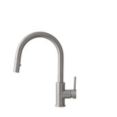 STYLISH International STYLISH™ MODENA Single Handle, Pull Down, Dual Mode Stainless Steel Kitchen Sink Faucet In Stainless Steel, Faucet Height: 14''