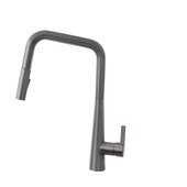 STYLISH International STYLISH™ Kitchen Sink Faucet Single Handle Pull Down Dual Mode Lead Free In Gun Metal, Spout Reach: 9-11/16'', Faucet Height: 17''