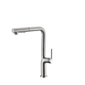 STYLISH International STYLISH™ Kitchen Sink Faucet with Single Handle Pull Down and Dual Mode In Brushed Stainless Steel Finish, Spout Reach: 8-5/16'', Faucet Height: 13-1/8''