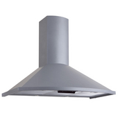 24'' Wall Mounted European Range Hood with Rounded Front, 500 CFM, Stainless Steel