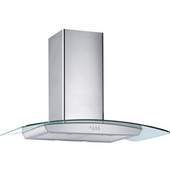 36'' Wall Mounted European Range Hood, 650 CFM, Stainless Steel & Glass