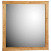 30'' Framed Mirror with Rounded Edge in Natural Alder, 29-1/2''W x 3/4''D x 32''H
