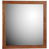 30'' Framed Mirror with Rounded Edge in Medium Alder, 29-1/2''W x 3/4''D x 32''H