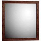 30'' Framed Mirror with Rounded Edge in Dark Alder, 29-1/2''W x 3/4''D x 32''H