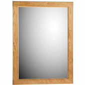 24'' Framed Mirror with Rounded Edge in Natural Alder, 23-1/2''W x 3/4''D x 32''H