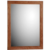24'' Framed Mirror with Rounded Edge in Medium Alder, 23-1/2''W x 3/4''D x 32''H
