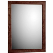 24'' Framed Mirror with Rounded Edge in Dark Alder, 23-1/2''W x 3/4''D x 32''H