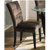 Chocolate Matinee Parsons Chair, Microfiber Seat and Black Legs