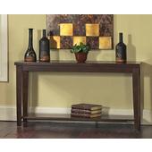 Davenport Slate Sofa Table, Dark Cherry Finish