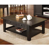 Liberty Cocktail Table, Antique Black Finish