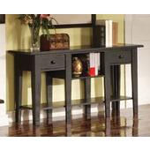Liberty Sofa Table, Antique Black Finish