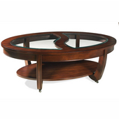London Cocktail Table with Casters, Cherry Finish