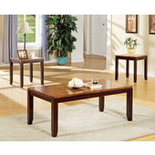 3 Piece Abaco Living Room Set, Acacia Finish
