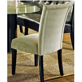 Matinee Beige Parsons Chair, Black Finish