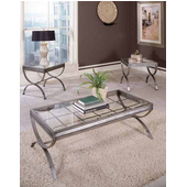 Emerson 3 Pack (2 End Tables & Cocktail Table), Silver