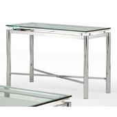 Nova Sofa Table, Glass Top and Chrome Base