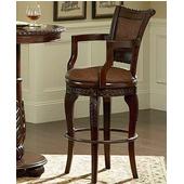 Antoinette Swivel Bar Chair, Cherry Finish