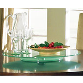 Avenue Lazy Susan, 22'' Round, Frosted Glass