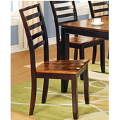 Abaco Side Chair Set, Acacia Finish
