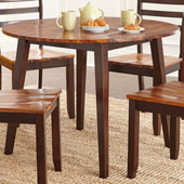 Abaco Double Drop Leaf Table 42'' Round, Acacia Finish