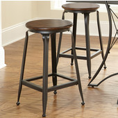 Adele Counter Stool, Birch veneer seat, 14''W x 14''D x 24''H