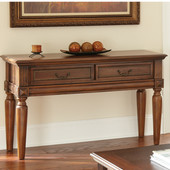 , 18''W x  50'' D x 28''H, Davina Sofa Table in Traditional warm cherry finish