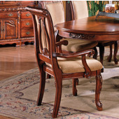 Harmony Harpback Arm Chair in Multi-Step Medium Cherry finish, 27''W x 25''D x 41''H