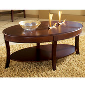 , 28'' W x  48'' D x 20''H, Troy Cocktail Table in Medium brown cherry finish