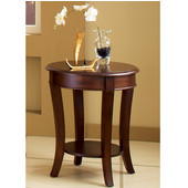 , 20''Round (24''H), Troy End Table in Medium brown cherry finish