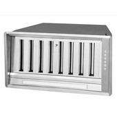 34'' Pro-Style Built-In Range Hood, 600 CFM Internal Blower, Stainless Steel, 4 Speed Push Button Control Panel