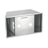 SUM900 27'' Custom Built-In Range Hood Power Pack Insert, 375 CFM Internal Blower, Stainless Steel, 3 Speed Push Button Control Panel, 2x-20W Halogen Lights