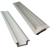 illumaLED™ 002 Series 48'' Recessed Aluminum Housing Profile, Clear Lens, 48'' Length x 1'' W x 5/16'' H