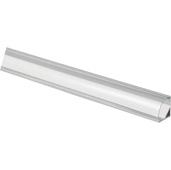 illumaLED™ 003 Series 48'' Angled Aluminum Housing Profile, Clear Lens, 48'' Length x 5/8'' W x 5/8'' H