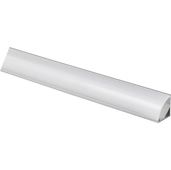 illumaLED™ 003 Series 48'' Angled Aluminum Housing Profile, Frosted Lens, 48'' Length x 5/8'' W x 5/8'' H