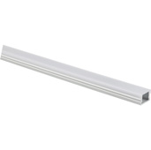 illumaLED™ 007 Series 90'' Flat Aluminum Housing Profile, Frosted Lens, 90'' Length x 5/8'' W x 3/8'' H