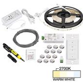illumaLED™ Radiance Series 16' Foot Tape Light Uno Wireless Kit, 1-Zone, 1-Area, Medium Light Output, Warm White 2700K, 197'' Length x 5/16''W x 1/16'' H