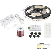 illumaLED™ Vivid Series 16' Tape Light Quattro Wireless Contractor Kit, 1-Zone, 1-Area, High Light Output, Cool White 4000K, 197'' Length x 5/16''W x 1/16'' H