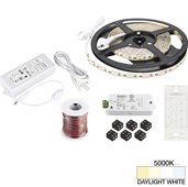 illumaLED™ Vivid Series 16' Tape Light Quattro Wireless Contractor Kit, 1-Zone, 1-Area, High Light Output, Daylight White 5000K, 197'' Length x 5/16''W x 1/16'' H