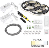 illumaLED™ Vivid Series 32' Tape Light Duo Wireless Contractor Kit, 2-Zone, 2-Area, High Light Output, Warm White 2700K, 384'' Length x 5/16''W x 1/16'' H