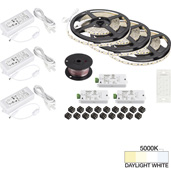 illumaLED™ Vivid Series 49' Tape Light Quattro Wireless Contractor Kit, 3-Zone, 3-Area, High Light Output, Daylight White 5000K, (3) Rolls 197'' Length x 5/16''W x 1/16'' H