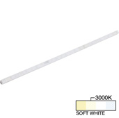 sempriaLED® A Series Model SA9E 24-3/4'' Angled Mini Strip Light Frosted Fixture, Medium Light Output, Soft White 3000k, 24-3/4'' Length x 1/2'' W x 5/8'' H
